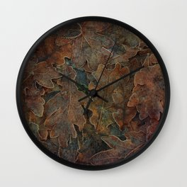 Winter's Gold Wall Clock