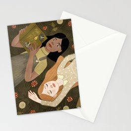 girls in grass Stationery Cards