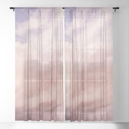 Perfect Pink Summer Sky Nature Photography Sheer Curtain