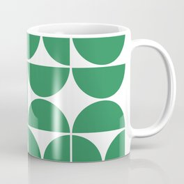 Mid Century Modern Geometric 04 Green Coffee Mug
