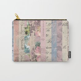 Vintage Shabby Florals Carry-All Pouch