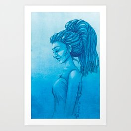 The girl with the dreads Art Print