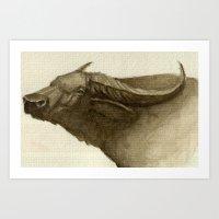 buffalo Art Prints featuring Buffalo by Vito Quintans