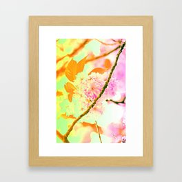 Spring hippy love colors Framed Art Print