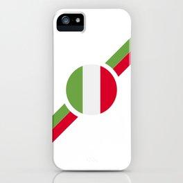 Italian flag soccer team jersey iPhone Case