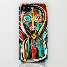 Blue heart Street Art Graffiti iPhone SE Slim Case
