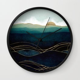 Indigo Waters Wall Clock
