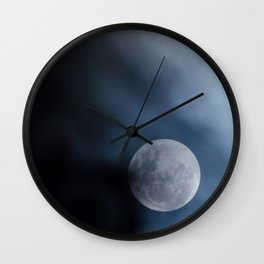 Moon blue 4 Wall Clock