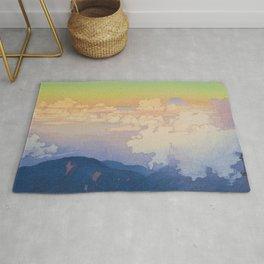 Above the Clouds (Un-Hyo)  Vintage Beautiful Japanese Woodblock Print Hiroshi Yoshida Rug