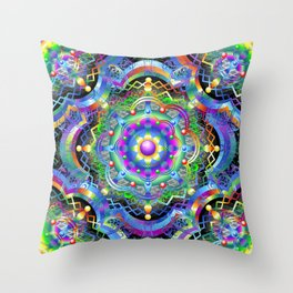 Mandala Psychedelic Art Design Throw Pillow