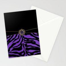 Purple Zebra Background Stationery Cards