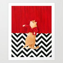 Twin Peaks cat  Art Print