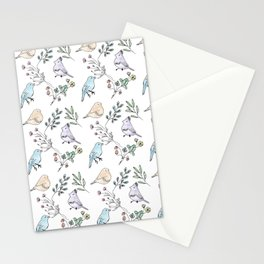 Watercolour birds Stationery Cards