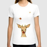 reindeer T-shirts featuring REINDEER by auntikatar