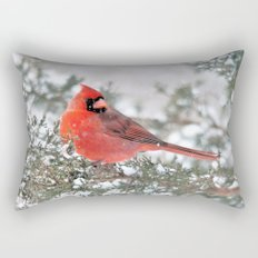 Winter's Beauty Cardinal Rectangular Pillow