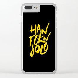 HAN FCKN SOLO Clear iPhone Case