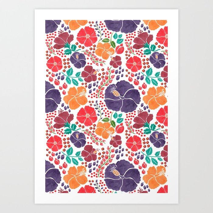 Scattered Flowers Art Print
