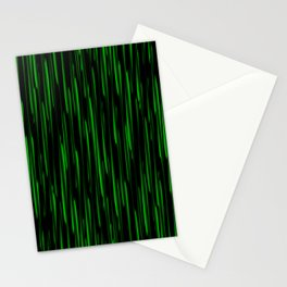 Vertical cross green lines on a dark tree. Stationery Cards
