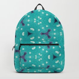 Aqua Purple and White Textured Bubble Abstract Design Backpack