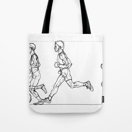 Transition through Triathlon Runners A Tote Bag