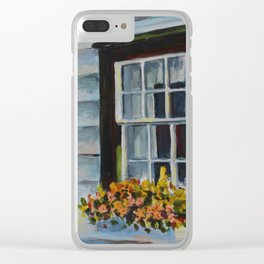 Summer Window Clear iPhone Case