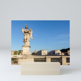 Angel with the Crown of Thorns at the Sant'Angelo bridge - Rome Mini Art Print