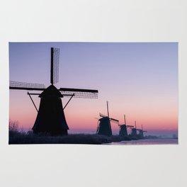 Windmills at Sunrise II Rug