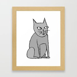 weird cat Framed Art Print