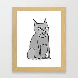 weird cat Framed Art Print