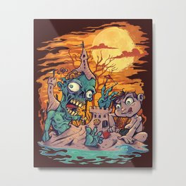 Zombie At The Beach  Metal Print