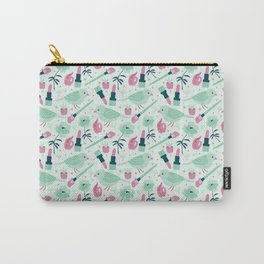 Birds in Mint Carry-All Pouch