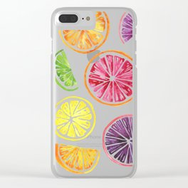 Citrus Wheels Clear iPhone Case