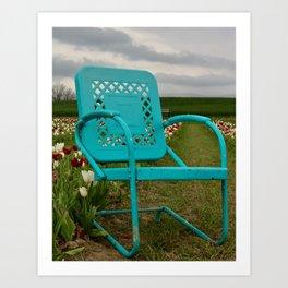 Sad Chair Blue Art Print