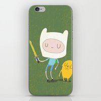 finn and jake iPhone & iPod Skins featuring Finn & Jake by Rod Perich