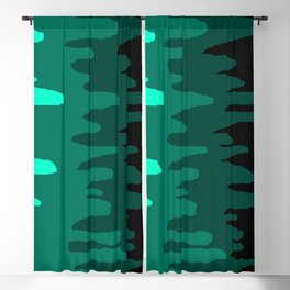 Splash of colour (green) Blackout Curtain