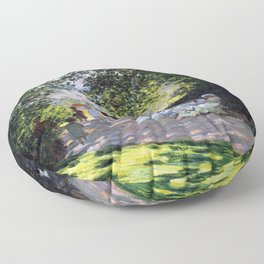 Claude Monet Parc Monceau Floor Pillow