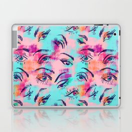 Mascara and colored eye shadow Pattern Laptop & iPad Skin