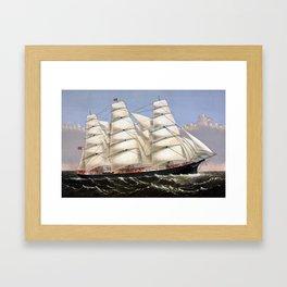 Clipper Ship Three Brothers Framed Art Print