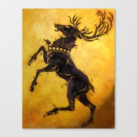 stag Canvas Prints featuring Stag by Narwen
