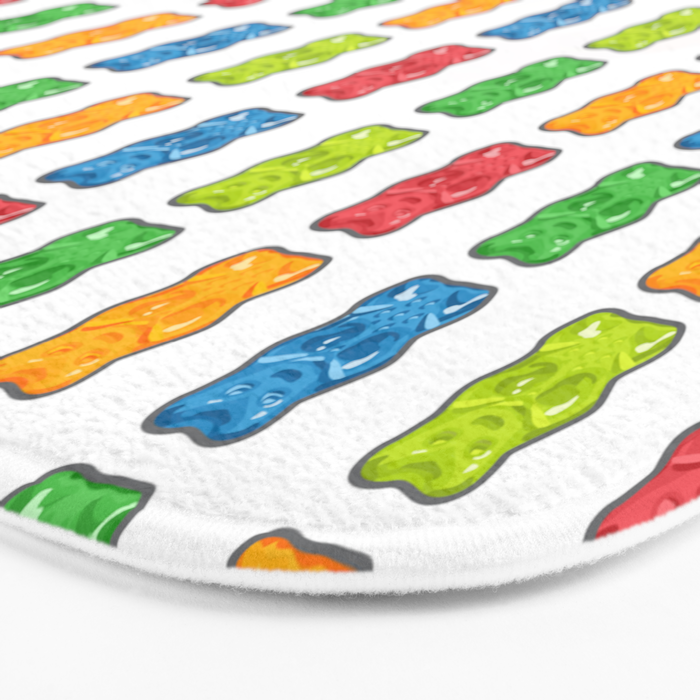 Rainbow Gummy Bears Bath Mat