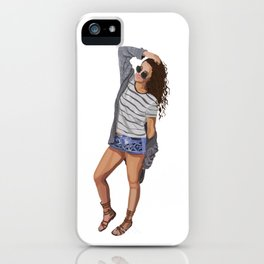Cool Chick Off Duty iPhone Case