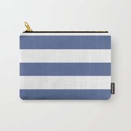 UCLA blue - solid color - white stripes pattern Carry-All Pouch