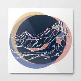 Black Tusk : Sunset Metal Print