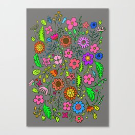 Flower Garden version2 Canvas Print
