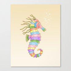 Crayon Ponyfish Canvas Print