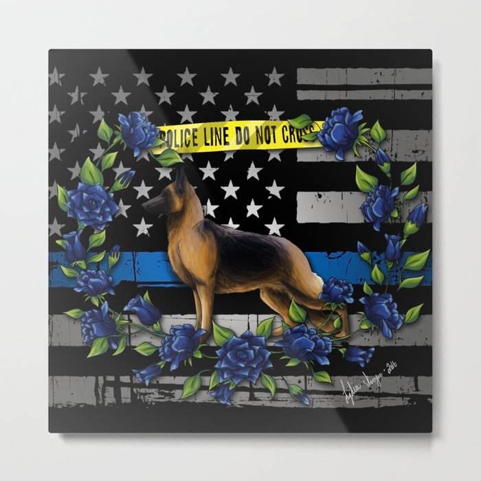 Thin Blue Line USA Version Metal Print
