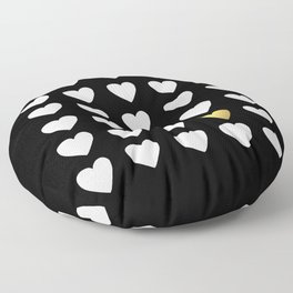 Golden Heart Floor Pillow