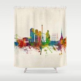 Gothenburg Sweden Skyline Shower Curtain