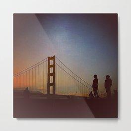 Golden Gate Bridge at Sunset Metal Print