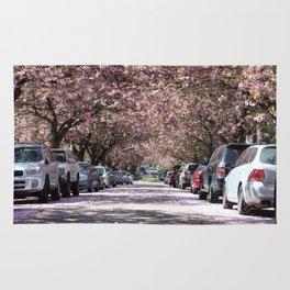 Cherry Blossoms over E 10th Ave Rug